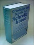 Schumann (Hg.): Grundlagen und Technik der Schreibkunst